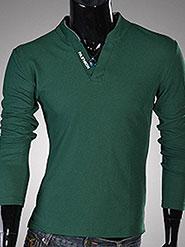 Fashion-Street-Green-Full-Sleeves-Men-Collared-T-shirt-433167-1