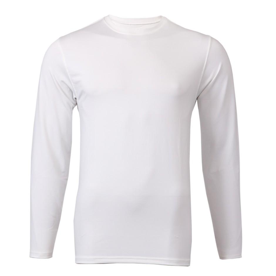 men_white_long_sleeve_plain_-_front_-_cc0501-w